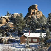 Twin Rock Cabin in Winter